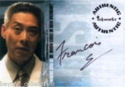 """LOST - SEASON 2 AUTOGRAPH CARD -  FRANCOIS CHAU """"DR CANDLE"""" A23"""
