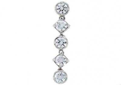 1.25 ct F SI1 natural round diamond bezel set 5 stone journey pendant white -