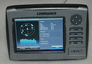 lowrance hds 7 gps receiver head unit only worldwide model see picture. Black Bedroom Furniture Sets. Home Design Ideas