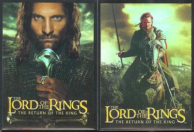 LOTR ROTK Return Of The King Bonus Foil Box Topper Set