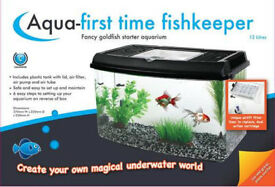 FISH TANK-AQUA FIRST TIME FISHKEEPER- never opened-new
