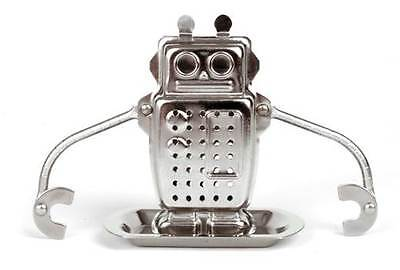 Robot Tea Infuser Loose Tea Bag steel by Kikkerland on Rummage