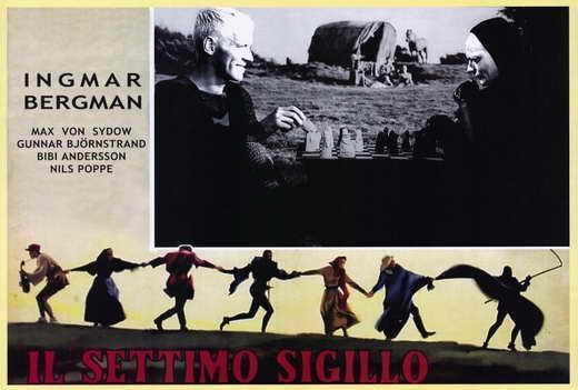 THE SEVENTH SEAL Movie POSTER 27x40 Italian Gunnar Bjornstrand Max von Sydow