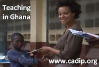Teaching in a school in Ghana