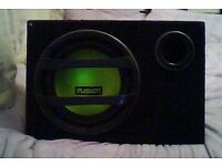 12 Inch Fusion Bass Box with Infinity Amp instead of standard amp