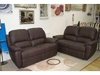 NEW DFS LEATHER RECLINER 2 X 2 SOFAS DELIVERY FREEE