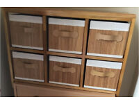 Six drawer multi-purpose storage