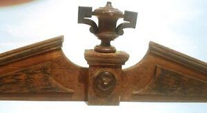 No100 Antike Supraporte Möbel Aufsatz Krone Verzierung Holz Tür