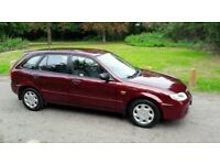 MAZDA 323 2003 GLX 1 OWNER FROM NEW MOT TILL 2017.DRIVES PERFECT