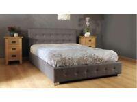 Nicole Fabric Storage Double Bed