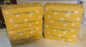 VINTAGE COUNTRY GARDEN.VTG RUSTIC TUMBLERS IN 3 SIZES BY LIBBEY. Gatineau Ottawa / Gatineau Area image 9