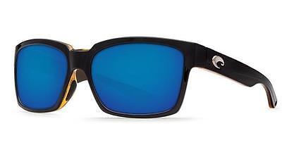 53fe97e93c New Costa Del Mar Playa Polarized Sunglasses 580P Black-Amber Blue Mirror  Fish