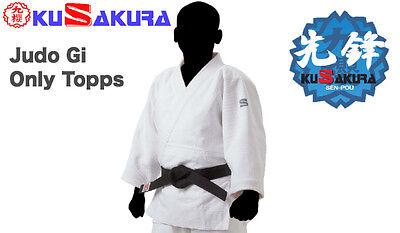 Kusakura Japón Judo Gi Judogi Ropa Únicamente Chaqueta Doble Weave Senpou Talla: