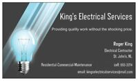 Certified Electrician available.