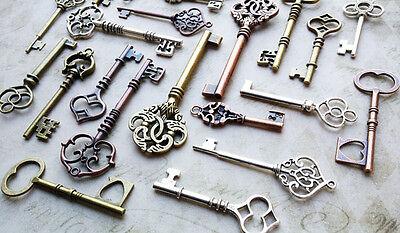 Skeleton Keys Bulk (Skeleton Keys Assorted Steampunk Vintage Wedding Keys Bulk Lot 50 Pieces 2-3.25