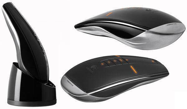 85b0240548f LOGITECH MX AIR MOUSE UK PLUG DOCK & CHARGER SET RECHARGEABLE WIRELESS  REMOTE.**