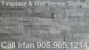 Charcoal Fireplace Veneer Stone Ledger Wall Decoration Stone