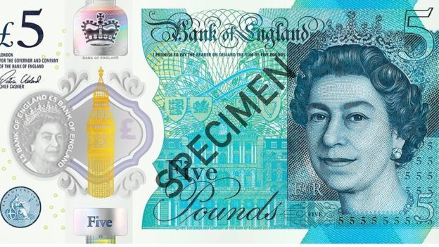 The new £5 Polymer note