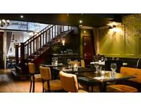 Bar & Waiting Staff Required For Busy Mayfair Bar & Restaurant