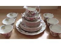 21 Pc Vintage Booths Chinese Tree Afternoon Tea Set