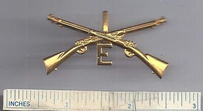 WW1 Officers - INFANTRY 1st REGIMENT E CO. - Insignia WWI US Army Prong Badge