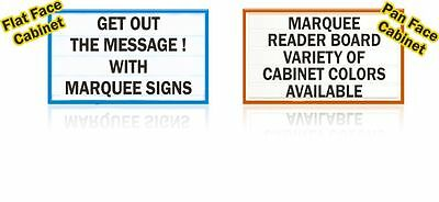 Single-sided 3x8 Marquee Lighted Outdoor Message Reader Board Sign With Logo Too