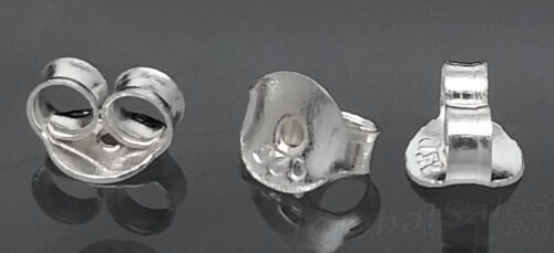 Genuine 925 Sterling Silver Butterfly Earring Backs Clutches Ear Nuts Findings