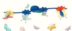 Lampadario da camera bambini bambina farfalle n 4 faretto - Lampadario camera bambini ...