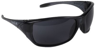 Bolle Voodoo Safety Sunglasses with Shiny Black Frame and Smoke Lens ANSI Z87 for sale  Shipping to Canada