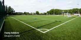 East London football league - Mondays - 7 a side