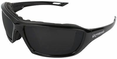 Radians Extremis Safety Glasses Black Gloss Frame Smoke Anti-fog Lens