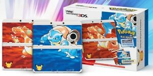 New Nintendo 3DS Pokémon Blue/Red Edition + 3 games