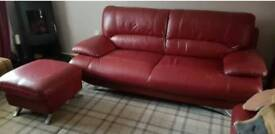 Harvey samara range 3 seater sofa & large footstool