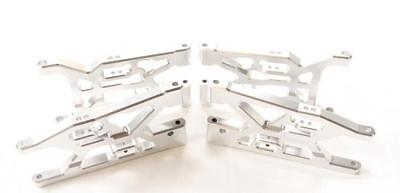 CNC alloy front + rear suspension arm support for LOSI 5IVE-T silver color
