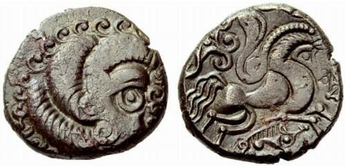 Coriosolites Gaul Tribes 50-80 BC Billion Stater,  ARMORICA,  Ancient Coin 6.54g