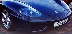Ferrari 360 (Stolen - Private Number Plate)