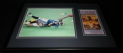 Kevin Dyson Framed 12x18 Super Bowl XXXIV Repro Ticket & Photo Display Titans