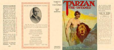 Edgar Rice Burroughs TARZAN THE UNTAMED facsimile jacket  for 1st Grosset ed