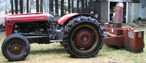 Massey Ferguson MF-35 Tractor with Blower and Blade