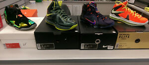 New and used Nike Lebron 10,11,12