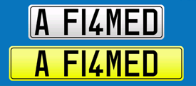 Private Reg Number Plate AHMED, FLAMED, AMED
