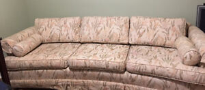 Sofa/Couch custom 3 seater sofa - fabric floral (neutral color)