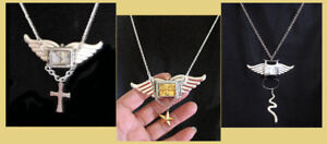 SHOWSTOPPERS UNIQUE UNISEX WATCH WINGED NECKLACES
