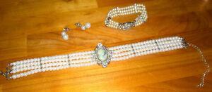 beautiful Quintessential Bling Necklace set earrings bracelet