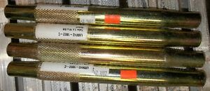 "4 - 10""  LONG X 1"" O/D, 5/8""  X 18  STEEL SWEDGE TUBES"