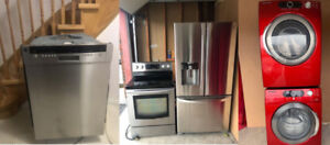 Stainless steel fridge,stove,drishwasher, washer dryer for sale
