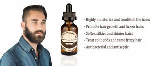 Huile a barbe, Beard oil, 100% pure and natural 20$ Handmade West Island Greater Montréal image 3
