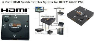New 3 Port HDMI Switch-3 HDMI Inputs,1 Output, Auto Switching HD