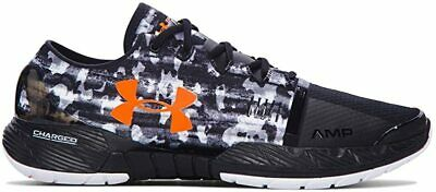 Under Armour Men's Speedform Amp Running Shoe, Black//Blaze Orange, 12 D(M) US