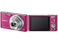 pink digital sony camera